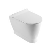 Унитаз приставной TWIST, 55,5x36x39,5, с сиденьем с микролифтом, белый/хром, SW-TW43054-CR